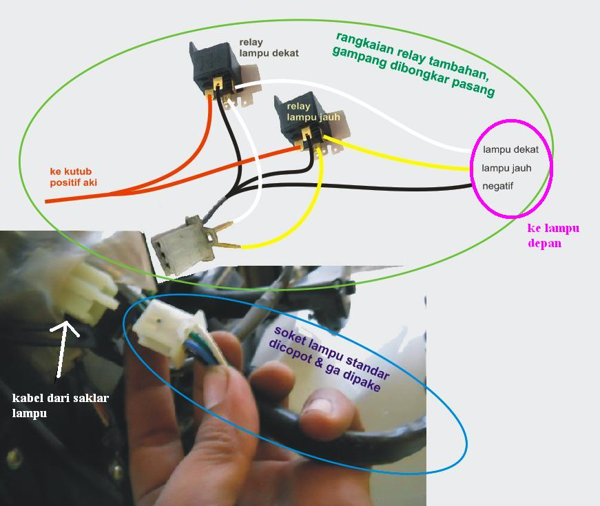 Howto  Memasang Relay Untuk Lampu Motor