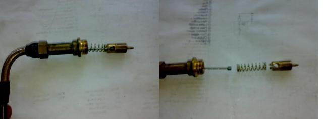urutan bagian dalam kabel choke, kabel - per - piston choke